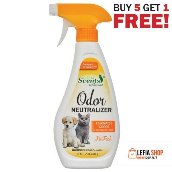 Great Scents Pet Odor Neutralizer with Pet Fresh Scent, 13 oz. 6 pc