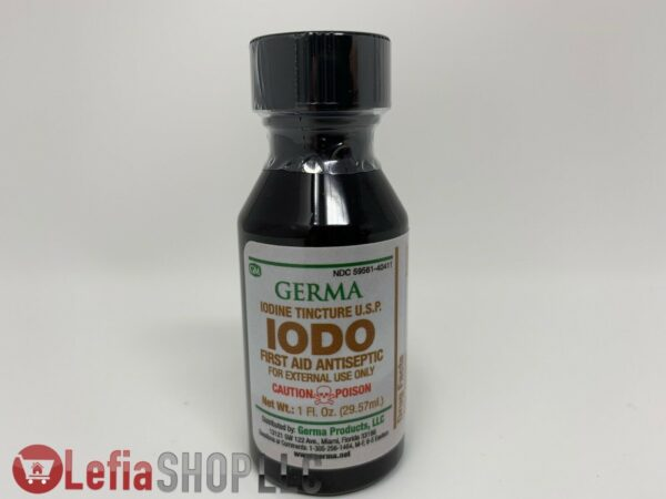 Germa Iodo. Iodine Tincture 1 FL oz. First Aid Antiseptic for external use only